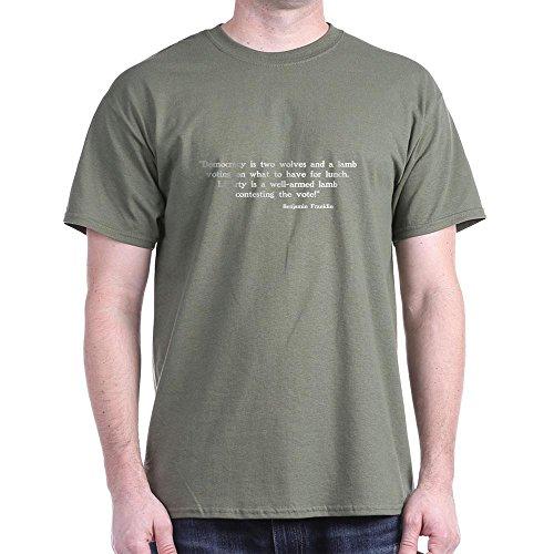 Lamm Dunkler T-shirt (Zwei Wölfe und Lamm Libertarian, dunkel)