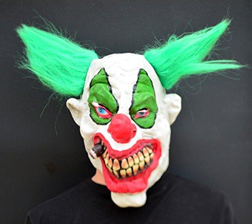 Halloween Clown böse Kostüm Latex-Maske - Puff Puff Clown (Beängstigend Böse Clowns)