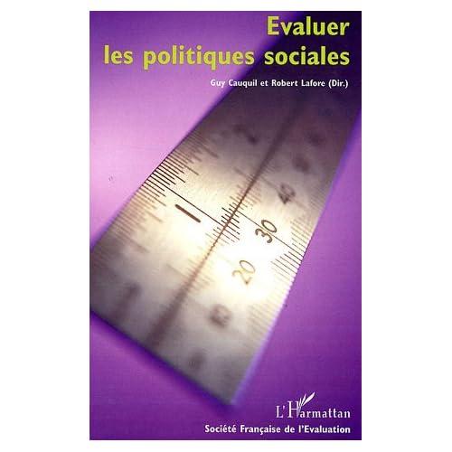 Evaluer les politiques sociales : Sixièmes Journées Françaises de l'Evaluation
