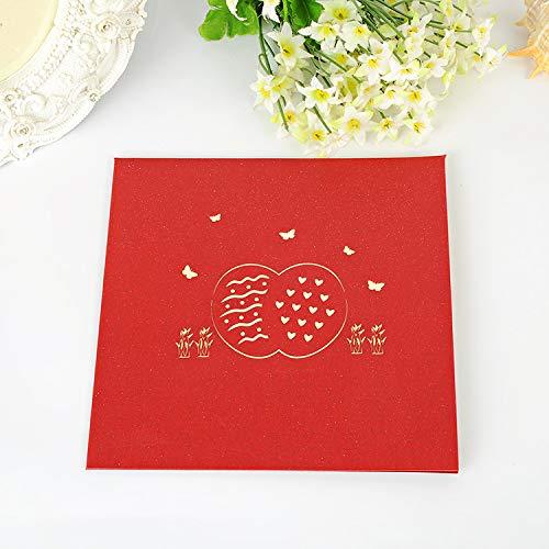 ZHOUBIN 2 fogli/set Spring/Carving Out 3D Card/Biglietto di auguri/Regalo di Natale di Capodanno