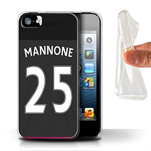 Officiel Sunderland AFC Coque / Etui Gel TPU pour Apple iPhone SE / Pack 24pcs Design / SAFC Maillot Extérieur 15/16 Collection Mannone