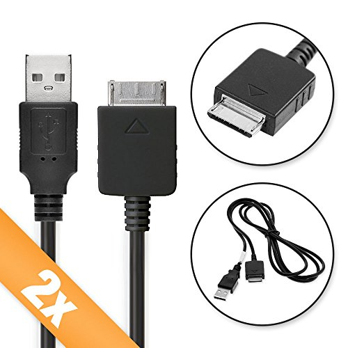subtel 2X USB Kabel kompatibel mit Sony Walkman NW-A45 -A20 -A25HN NWZ-A15 -A10 NW-ZX2 -ZX1 ZX100 NWZ-E585 -E584 -E463 -E453 -E443 -E436f NWZ-S545 -S544 -S764 NWZ-F886 Datenkabel Ladekabel Sony Mp3 - Usb-mp3-kabel