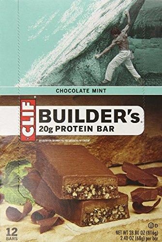 CLIF Bar - Builders Protein Riegel Chocolate Mint 12er Box -
