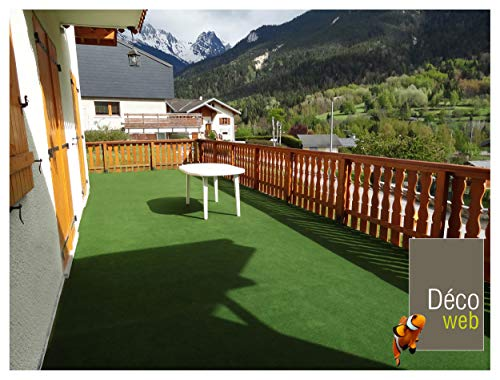 Decoweb Rouleau Moquette Outdoor sur plots (1,33m x 5m)