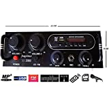 Crispy Deals Home Stereo Audio Amplifier Mp3 Music Player USB, FM Radio, Aux In, With Top Quality (4 Speaker Output)
