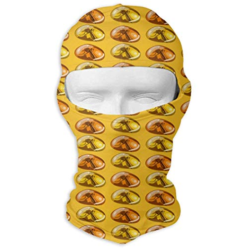 Balaclava Full Face Mask Ancient Insect Amber Stone Windproof UV Protection Neck Hood Ski Mask for Motorcycle Cycling Outdoor Sports