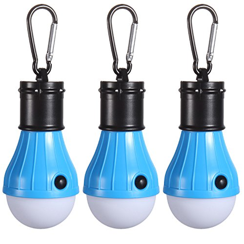 Tent LED Light [3Pack], PEMOTech Portable Lantern Emergency Tent LED Light Bulb for Home, Fishing, Camping, Hiking,Backpacking , Other Indoor and Outdoor Activities,Battery Powered & Water Resistant