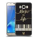 Head Case Designs Leben Piano Musik Kunst Ruckseite Hülle für Samsung Galaxy J5 (2016)