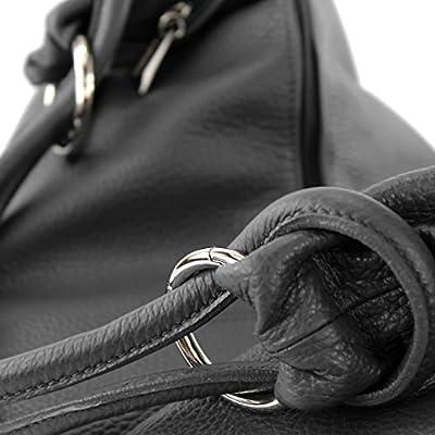 modamoda de - Made in Italy Sac italien femme sac à main sac en cuir sac besace en cuir de cabas 337
