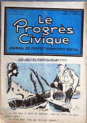 George Prat - PROGRES CIVIQUE (LE) [No 308] du 11/07/1925