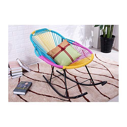 TAO Regenbogen Farbe Faules Sofa Rattan Stuhl Schlafzimmer Wohnzimmer Balkon Komfortable Mode Sitz Hocker Große Trompete -