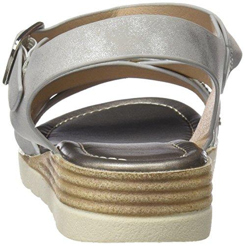 Sandali Di Toe argento Denaro 64298 Open Donna Aggiornamento Ezwx74dpq