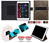 Hülle für Apple iPad Pro 10.5 Samsung Galaxy Tab S4 Amazon Fire HD 10 2017 Huawei MediaPad M5 10 Lg G Pad 3 10.1 Tasche Cover Case Bumper | Braun Wildleder | Testsieger