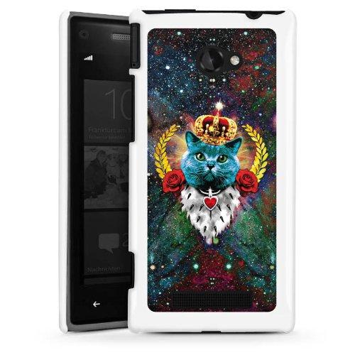 DeinDesign HTC Windows Phone 8X Hülle Schutz Hard Case Cover Blaue Katze König Kater