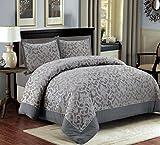 3 tlg. XL Moderne Doppelbett Bettgarnitur 230x250cm Tagesdecke mit Kissenbezug Bettüberwurf Bett Decke + Kissenbezüge Patchwork + Kissen-Bezug 3 Teile Set