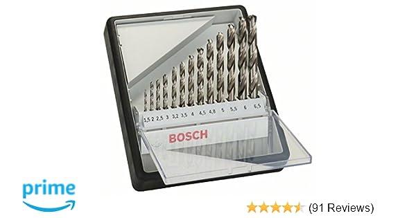 BOSCH HSS-G Robust Line Metal Drill Bit Set 13 Piece In Case 2607010538 1.5-6.5