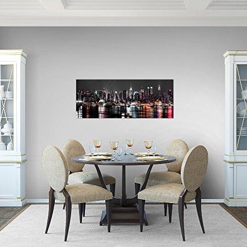 Bilder 100 x 40 cm - New York Bild - Vlies Leinwand - Kunstdrucke -Wandbild - XXL Format - mehrere Farben und Größen im Shop - Fertig zum Aufhängen - 601912a - 5