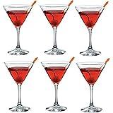 Set of 6 Glass Martini Glasses Cocktail Glasses 170ml by Bormolioli