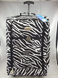 Lighweight Cabin Approved 21 Carry-on Wheeled Hand Luggage Flight Bag Trolley Suitcase Zebra from Dun Costa