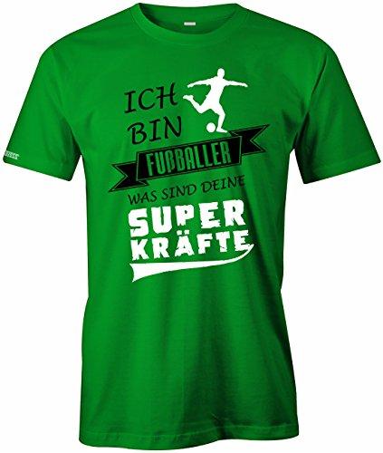 Jayess Ich Bin Fussballer was Sind Deine Superkräfte - Herren T-Shirt Grün