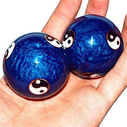 Massaggio da pallamano, Careshine cinesi esercizio quotidiano antistress pallamano Baoding balls terapia di rilassamento Yin Yang massaggio strumento per la salute