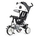 QXMEI Kinder Dreirad Kinderwagen Kinderwagen 1 bis 6 Jahre Alt Baby Fahrrad mit Markise,Black2