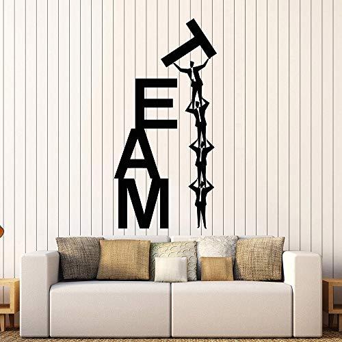 zqyjhkou Vinyl Wandtattoo Teamarbeit Teamarbeit Business Wort Aufkleber Einzigartiges Geschenk Büro Wandtattoo Dekoration Zubehör Wandbilder 69x136cm