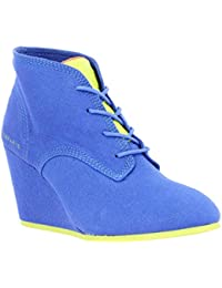 ELEVEN PARIS Lanacan Fluo toile Femme Bleu + jaune