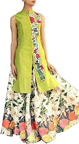 BW Retails Beautiful Multi Colored Georgette Embroidered Anarkali Suits