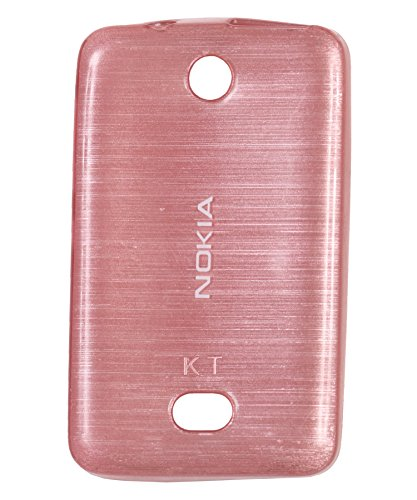 iCandy Soft TPU Shiny Back Cover for Nokia Asha 501 - Pink  available at amazon for Rs.109
