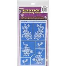 Armour productos Rub 'n' Etch de plástico funda Diseño de 12,7cm x 8-inchdetailed Floral