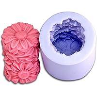 Allforhome Fleur Bougie moules en silicone Savon moule à bougie moule DIY Bougie Fabrication de moules