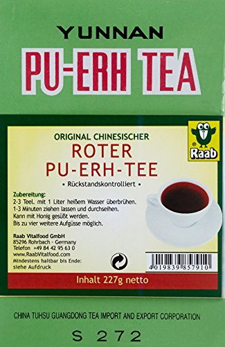Tee Roter Lose (Raab  Roter Pu-Ehr-Tee lose, 1er Pack (1 x 227 g Karton))