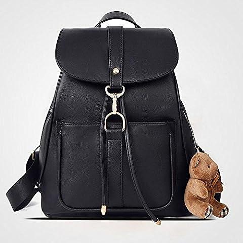 Scuola di moda borsa casual in pelle zaino borsa a tracolla Mini zaino per donne & ragazze