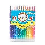 Brosse à huile de 24 couleurs, stylo coloré de peinture de bâton coloré de crayon, matériaux de peinture d'étudiant