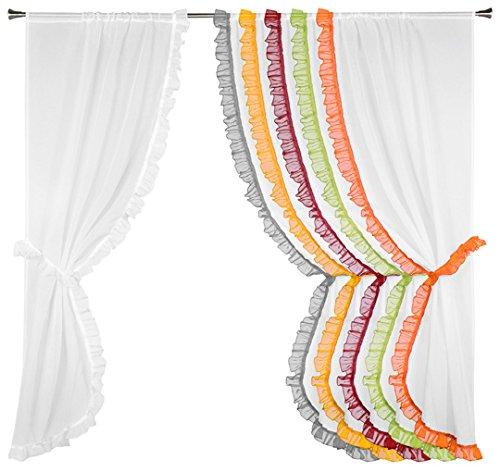 Linder Paire de rideau bonne-femme Polyester Blanc 075 x 160 x 40 cm