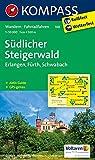 Südlicher Steigerwald - Erlangen - Fürth - Schwabach: Wanderkarte mit Aktiv Guide und Radwegen. GPS-genau. 1:50000 (KOMPASS-Wanderkarten, Band 168)