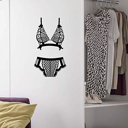 Vinyl-Wandaufkleber - Dessous - 76,2 x 41,9 cm - Sexy Körpersilhouette modernes Design für Frauen, Zuhause, Wohnung, Schlafzimmer, Schrank, Tür, Fenster, Boutique, Innendekoration -