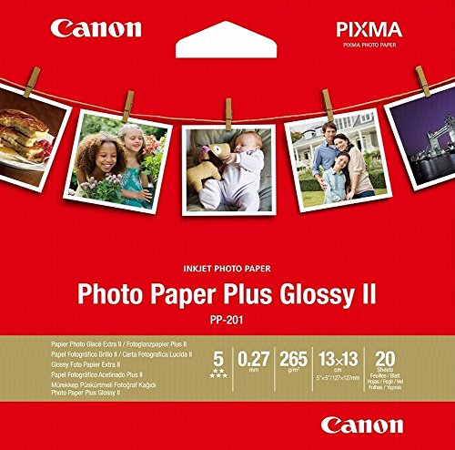 CANON PP- 201 Photo Paper Plus 5x5 inch 20 - Ii Paper Glossy Photo Plus