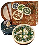 Waltons: 15' Inch Irish Bodhran Gift Set / Beater / DVD Tutor / Case / Chase Bodhran Design