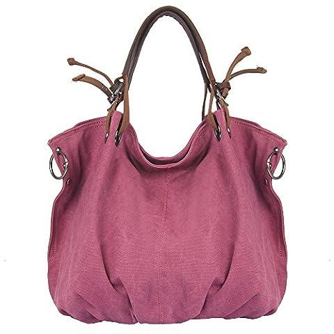 Canvas Tasche, P.KU.VDSL Canvas Shopper Damen Shopper Umhängetasche Handtasche, Hobos