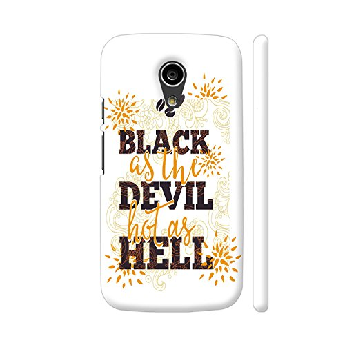 Colorpur Coffee Black Devil Hell Designer Mobile Phone Case Back Cover For Motorola Moto G2 | Artist: UtART