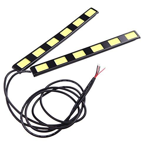 Darpy (TM) 1PAIR 12W COB 6LED auto luci diurne luci LED bar DRL driving Lamp Fog bulbs White 12V 6000-6500K