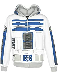 Star Wars R2-D2 Sweat à capuche zippé blanc/gris clair