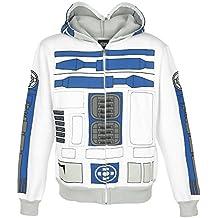 Star Wars R2-D2 Sudadera capucha con cremallera blanco/gris claro