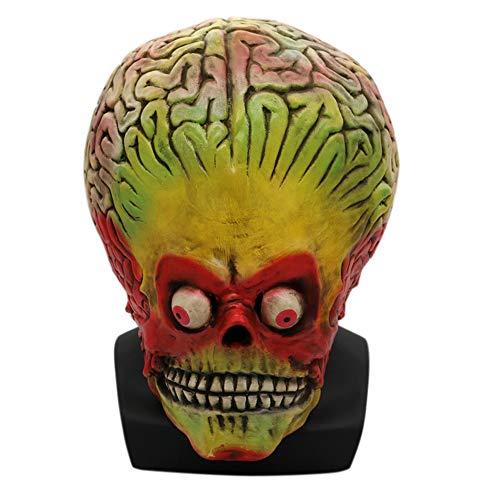 e Erwachsene Horror Skull Alien Maske Scary Masquerade Requisiten ()