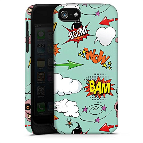Apple iPhone 4 Housse Étui Silicone Coque Protection Tête de mort Bande dessinée Bombe Sticker Style Cas Tough terne