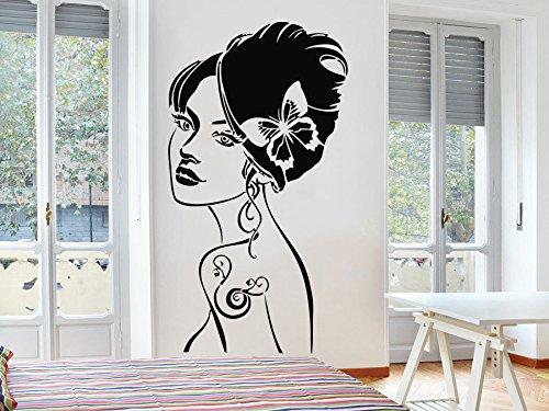 jiushizq Schöne Frau Kunst Wandaufkleber Home Special Moderne Dekorative Vinyl Wandtattoos Mode Mädchen Muster Wandbild Wm 42x78 cm