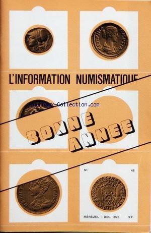 INFORMATION NUMISMATIQUE (L') [No 48] du 01/12/1976