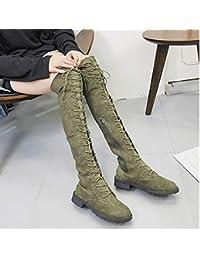 borse Scarpe ginocchio Stivali Verde il Amazon e it sopra p4x1nqww8A